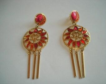 Berebi Dangle Multi Tone Stud Earrings