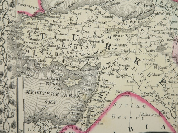 Persia Map Afghanistan Iran Map Turkey Middle East Map 1871 – Afghanistan Iran Map