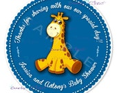 Baby Shower for Baby Boy -Personalized Stickers or Labels for your Favors -Choose Size-