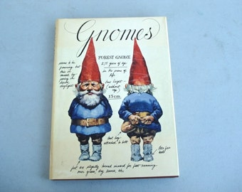 Gnomes Book Vintage Gnome Book This book is about the life and times of Gnomes