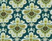 1 yard - French wallpaper in Spruce, Belle collection by Amy Butler