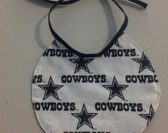 Reversible Infant Bib Dallas Cowboys Blue on one side and white on the other 243433
