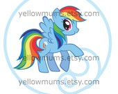 PRINTABLE Rainbow Dash Birthday Toppers or Tags Instant Download