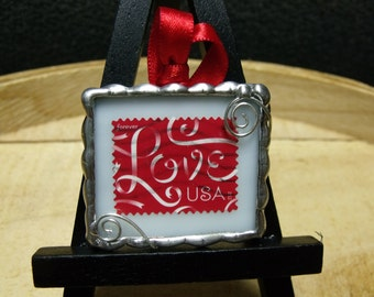 Love Postage Stamp Keepsake Ornament