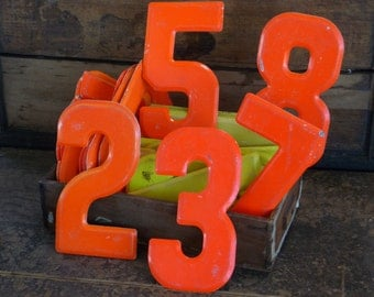 "5-1/2"" Tall, Vintage Metal Number, SIGN No 5 0 zero Marquee Signage"
