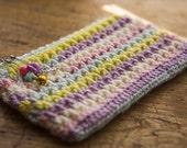 Crochet pencil case Crochet pouch Zipper pouch Crochet Pouch Makeup Bag Phone Case Mermaid pouch Back to school Mermaid Charm Mermaid scales