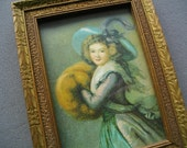 Antique Frame Small Picture Frame Edwardian Lady Print