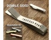 Best Day Ever Tie Clip Groom Tie Clip Groom Tie Bar Personalized Tie Clip Engraved Tie Clip Groom Gift Custom Tie Clip