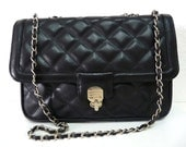 SALE Authentic Bag Black Quilted Leather SOMA R Flap Chain Shoulder bag