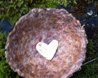 Cedar Bark Garlic and Onion Skin Paper Blessing Bowl