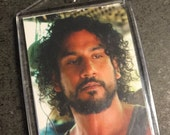 LOST TV Series Sayid and Shannon Trading Card Large Photo Keychain
