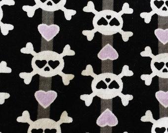 Skull And Crossbones Print Fabric//Fat Quarter// 100% Cotton