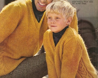 Father and son sweaters knitting pattern