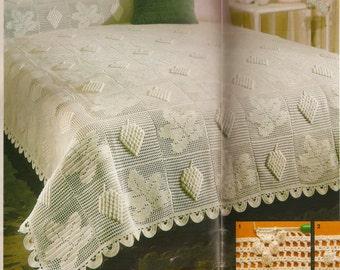 Bedspread/bed cover crochet pattern