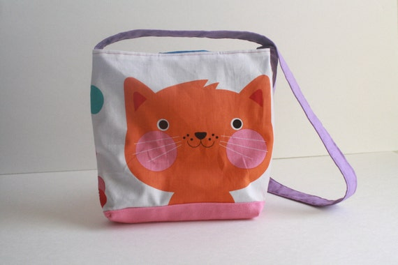 Happy Cat Kid's Purse from Dancing Squirrels