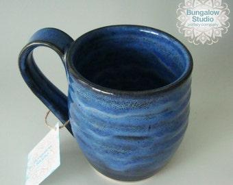 Large Ceramic Mug, Large pottery mug, Pottery mug in handmade, Ceramic drinking mug