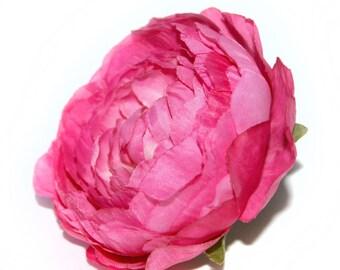 Large Dark Pink or Fuchsia Ranunculus - Silk Flowers, Artificial Flowers