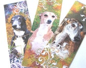 Greyhound Bookmarks , Set of 8 , Greyhound Dogs , Dog Bookmarks , Animal Bookmarks , Book Accessories - Book Gift