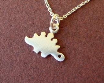 Dinosaur Necklace Tiny Stegosaurus Pendant Sterling Silver Dino Kids Teen Boy Girl Cute Monster mom Jewelry girl necklace girl jewelry