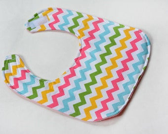 Baby Girl Bib Infant Bib Gift Baby Accessories Colorful Designer Chevron Bibs New Baby Shower Gift