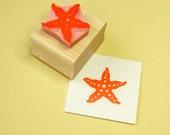 Starfish Hand Carved Rubber Stamp - Nautical Stamp - Beach Rubber Stamp - Star Stamp - Shell Rubber Stamp - Beachcombing - Sand - Sea stamp