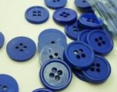 "Deep Royal Blue 5/8"" (16 mm) buttons, Qty 69"