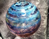 Help a DUI victim! Blown glass ornament. Silver and gold fumed cane wrap by Eliza Torlyn. To benefit Shepp. Details below!