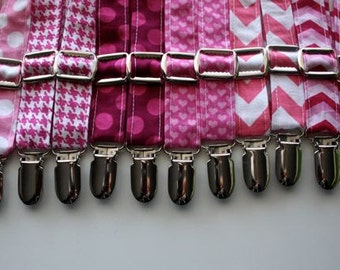 Little and Big Guy SUSPENDERS - Pretty in PINK Collection - (Newborn-Adult) - Baby Boy Toddler Teen Man - (Made to Order) - Valentine's Day