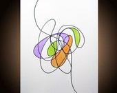 Original Abstract Painting, Abstract Art, Minimalist, Modern Art, Fine Art, Contemporary, Loft, Canvas, Acrylic, Ink, 16 x 20, Len Dickson