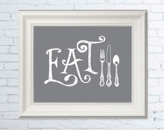 Wall Art Print, Eat Wall Art