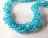 APATITE BLUE Mystic Quartz Faceted Rondelle Beads, 3.5mm (1/2 Strand), aqua apatite blue, gemstone beads, diy jewelry
