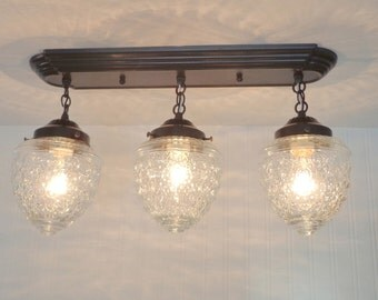 Island Falls. Clear Globe Rectangular CEILING LIGHT Trio