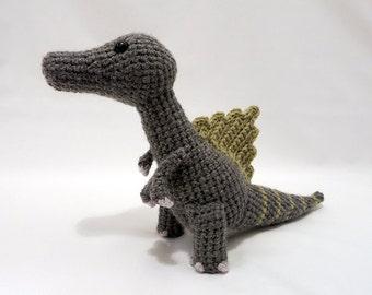 Crochet PATTERN PDF - Amigurumi Dinosaur Spinosaurus - cute crochet amigurumi pattern, dinosaur softie, crochet children's toy, dino plush