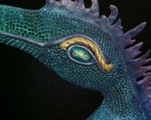 The Dragon Drusilla - OOAK - Gourd Art