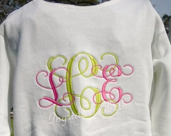 Monogrammed Initial Sweatshirt