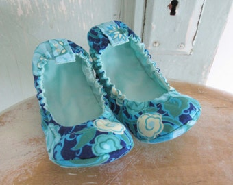 Toddler Shoe Pattern - Elastic Flats child size 8 to 12 - PDF download