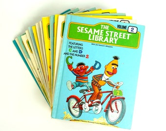 The Sesame Street Library Set 70s / CHOOSE YOUR VOLUME / Vintage Childrens Book