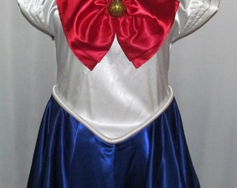 Plus Size Sailor Moon Costume Cosplay Adult Women's Custom Fit Sizes 16 18 20 22 24 - Deluxe Version