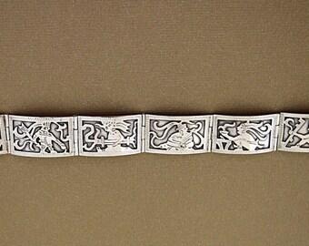 Guatemala Panel Bracelet Silver Mayan