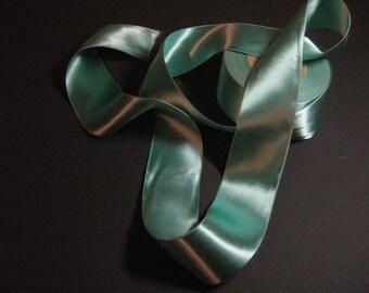 Aqua ribbon Aqua satin ribbon Double sided satin ribbon wide aqua ribbon fabric ribbon trim Rayon ribbon Aqua blue green 2-1/8 inch YZ7