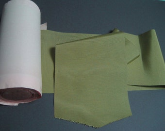 Vintage wide silk faille olive green ribbon 6 5/8 inch wide P026