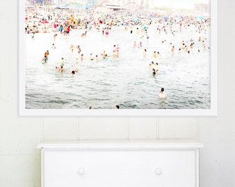 Large Art // Beach Photography // Coney Island Beach Photography, Large Scale Art, Big Prints, Beach Prints, Colorful Art - CI Beach Peeps 2