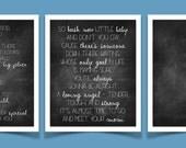 Mom by Garth Brooks song lyrics, chalkboard, set of 3 prints - 8x10, INSTANT DOWNLOAD