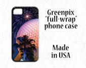 Disney iPhone 7 case, fireworks, EPCOT Spaceship Earth phone cover, iPhone 4, 5, iPhone 5C, iPhone 6, Samsung Galaxy S5, Galaxy S6, Greenpix