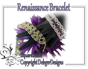 Renaissance Bracelet - Tila Beading Pattern Tutorial