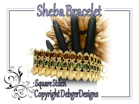 Sheba Tila Bracelet-  Beading Pattern Tutorial