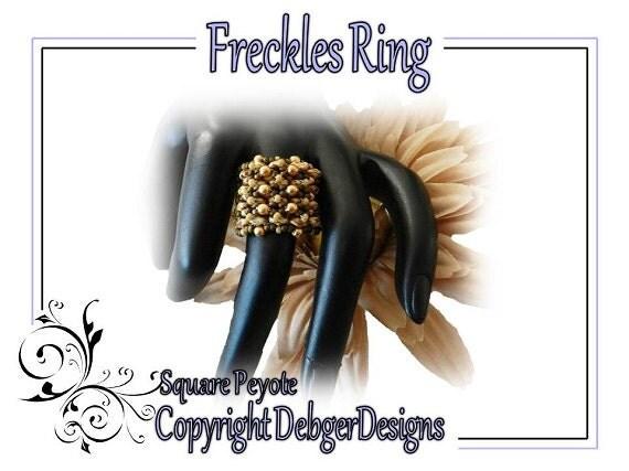 Freckles Ring - SuperDuo Beading Pattern Tutorial
