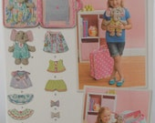 """Sewing Pattern new and uncut Simplicity 1238 12"""" Stuffed Elephant with Clothes and Carrying Case"""