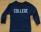 COLLEGE Long Sleeve Toddler Shirt