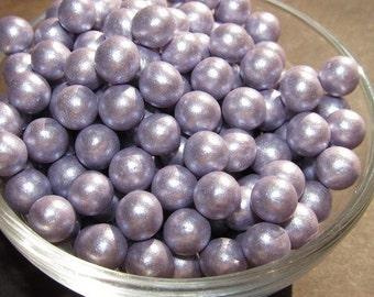 Pastel Purple Fondant Pearls, Edible Pearls, Cupcake Decoration, Light Purple Wedding, lavender wedding Decoration, Baby Shower Cupcakes